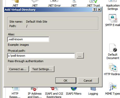 Cách tạo thư mục .well-known trên IIS - Windows