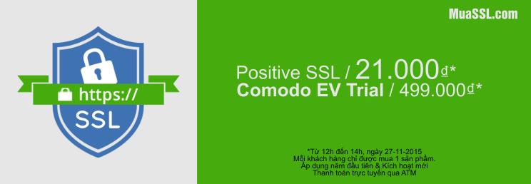 Giảm giá đặc biệt cho Positive SSL và Comodo EV trial SSL